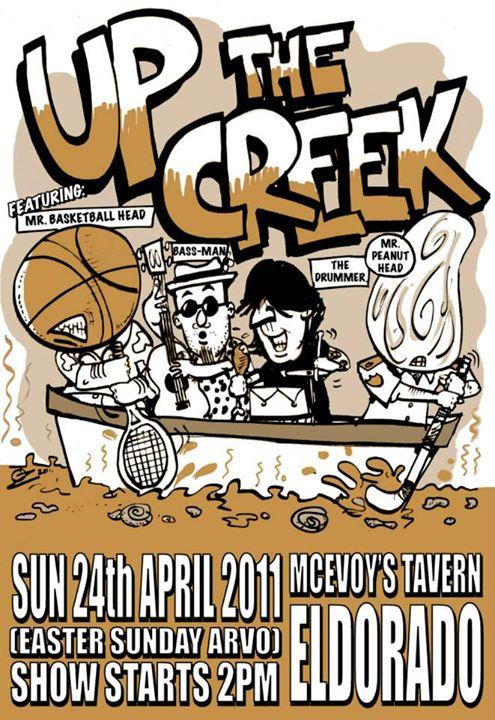 Facebook - Up the Creek poster art by SPLAToons - Cartoon Shop at Beechworth