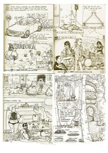 Spain Sketchbook 2009- Art by OZ