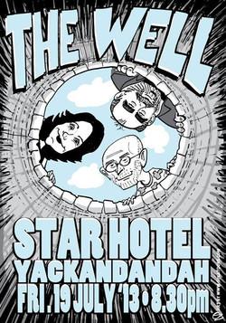 Facebook - The Well poster art by SPLAToons - Cartoon Shop at Beechworth