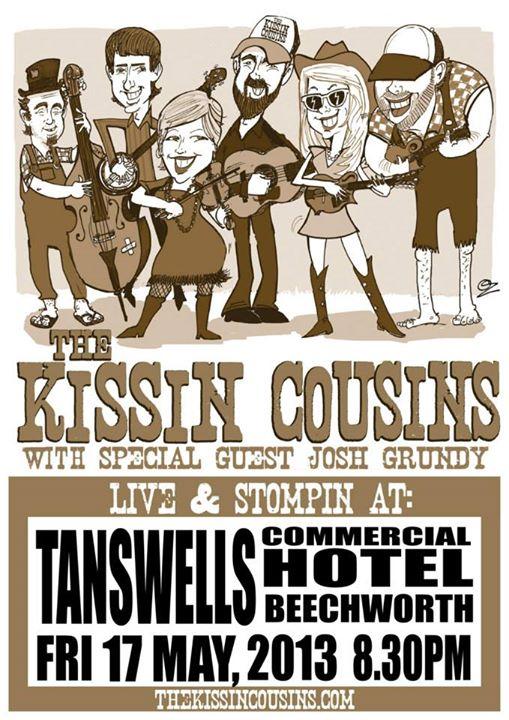 Facebook - The Kissin Cousins poster art by SPLAToons - Cartoon Shop at Beechwor