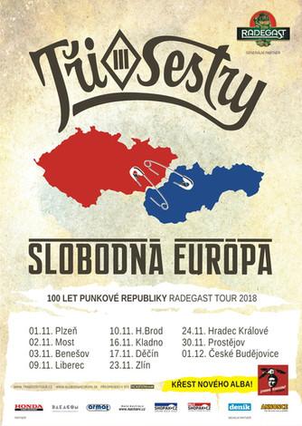 Tři sestry a Slobodná Európa vyrážejí na společné podzimní turné