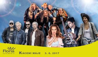 Pestrou hudební přehlídku přineslo Kácení máje na Florii v Kroměříži