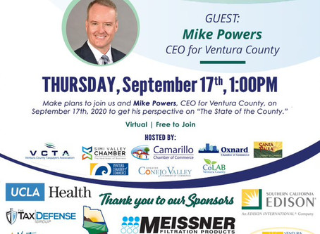 Save The Date and Register Now: State of the County on Thursday, September 17 (Free Virtual Event)