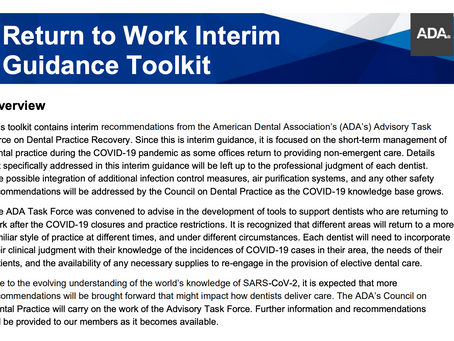 Return to Work Interim Guidance Toolkit