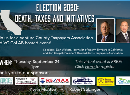 Free Zoom Event! Election 2020 - Death and Taxes