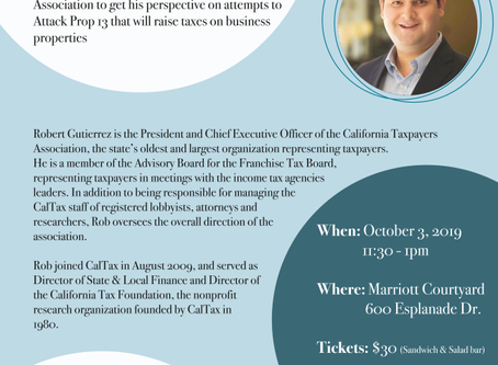 VCTA Presents: The Importance of Protecting Prop. 13 Luncheon