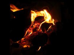 Cozy warm fire