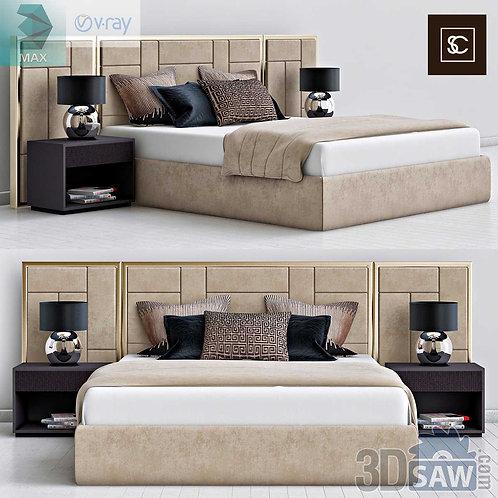 Bed Model - Bedroom Item Decor - MX-0000101