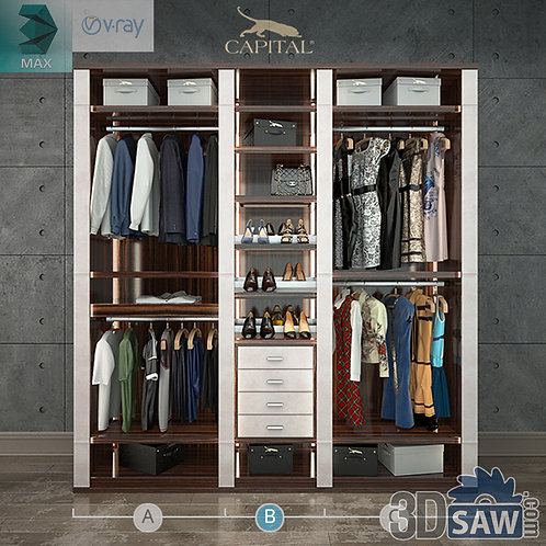 Wardrobe - Display Cabinets - Clothes - Sideboards - MX-726