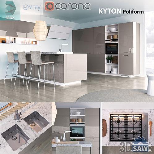 Kitchen Cabinets Casework - Kitchen Room Design - MX-637
