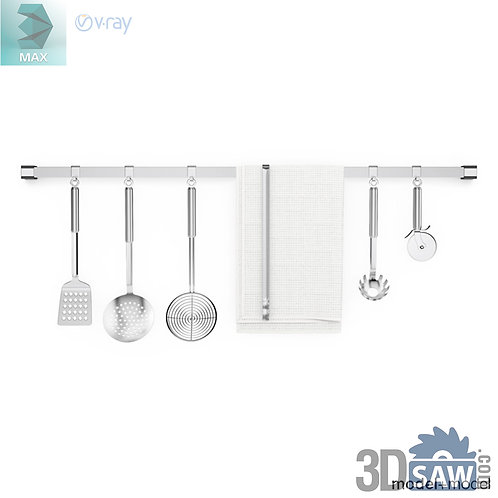 3ds Max Kitchen Utensil Set - Kitchen Items - 3d Model Free Download