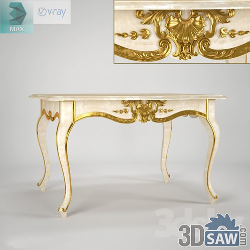 3ds Max Table Model - 3d Model Free Download - MX-1240
