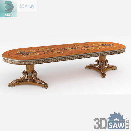 Oval Fixed Table - Baroque Decor - Vintage Furniture - MX-513