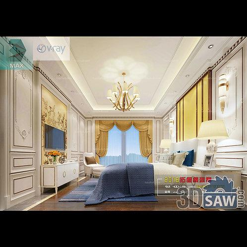 3d Model Interior Design Free Download - 3ds Max Bedroom Design - MX-920