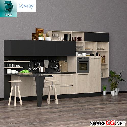 Kitchen Cabinets Casework - Kitchen modules - MX-0000038