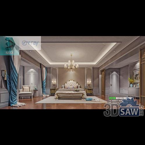 3d Model Interior Design Free Download - 3ds Max Bedroom Design - MX-938