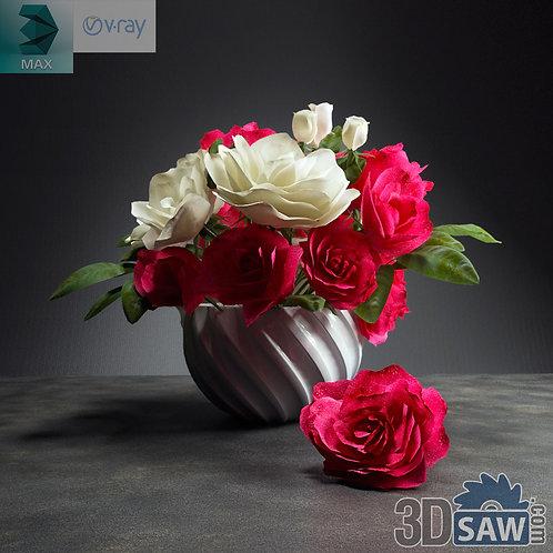Flower Vase - Interior Plants - Rose - MX-568