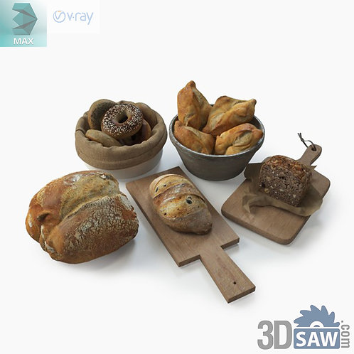 3ds Max Bread - Kitchen Items - 3d Model Free Download