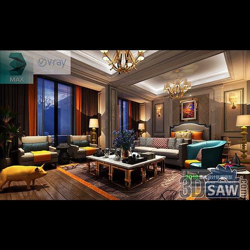 3d Model Interior Design Free Download - 3ds Max Bedroom Design - MX-949