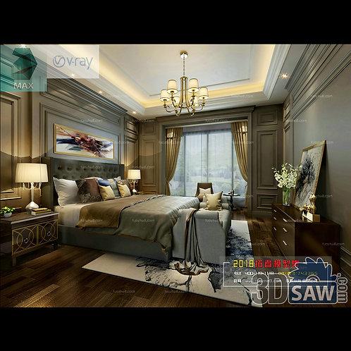 3d Model Interior Design Free Download - 3ds Max Bedroom Design - MX-918