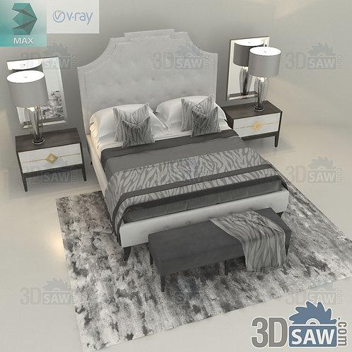Bed Model - Bedroom Item Decor - MX-0000276