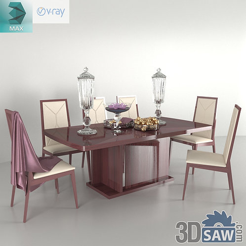 Table And Chairs Set - MX-0000189