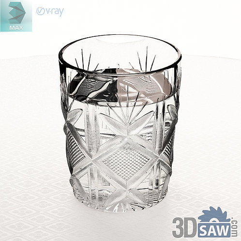 3ds Max Water Cup - Kitchen Items - 3d Model Free Download