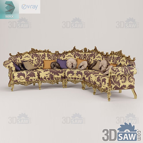Corner Sofa - Baroque Decor - Vintage Furniture - MX-439
