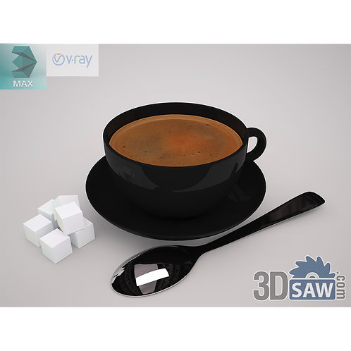 3ds Max Coffee Cup - Kitchen Items - 3d Model Free Download