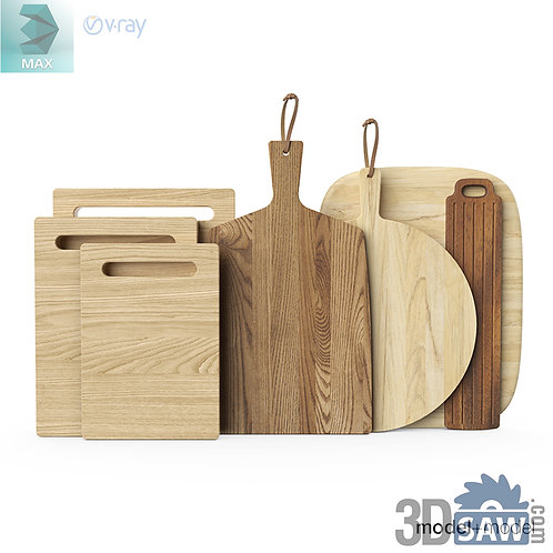 3ds Max Chopping Board - Kitchen Items - 3d Model Free Download