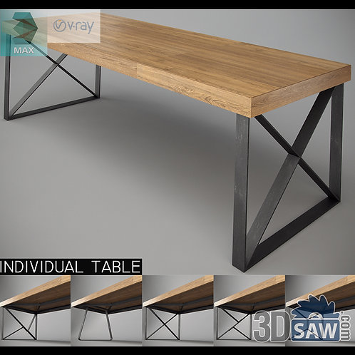 3ds Max Table Model - 3d Model Free Download - MX-979