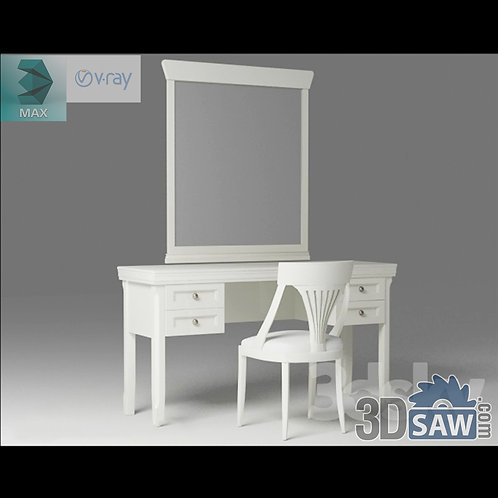 3ds Max Table And Chairs Model - 3d Model Free Download - MX-1239