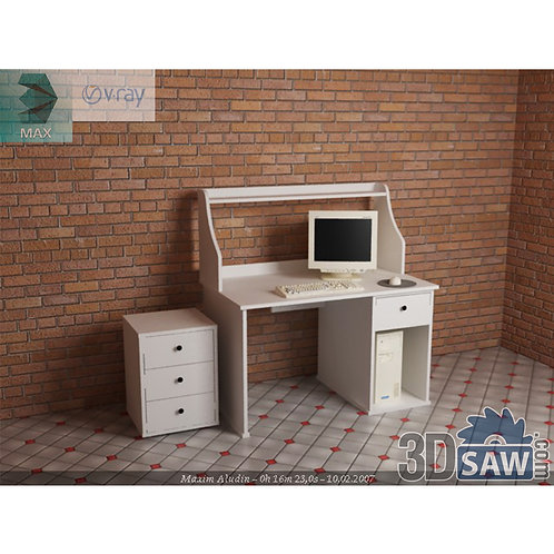 3ds Max Table Model - 3d Model Free Download - MX-1165