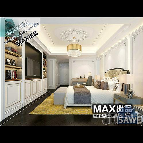 3d Model Interior Design Free Download - 3ds Max Bedroom Design - MX-919