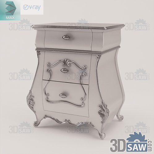 Night Table - Bedside Table - Baroque Decor - Vintage Furniture - MX-0000370
