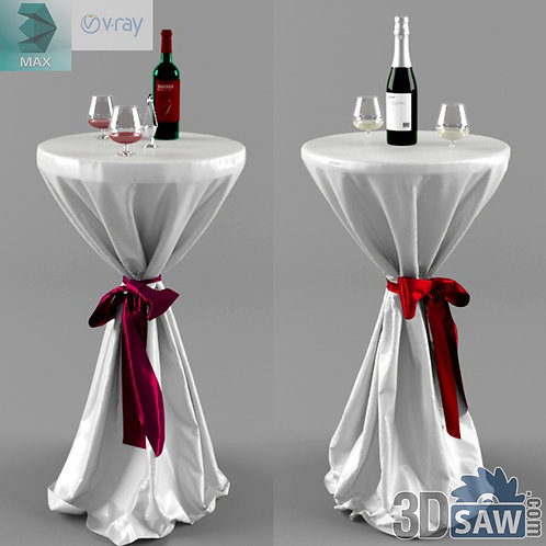 3ds Max Table And Chairs Model - 3d Model Free Download - MX-1116