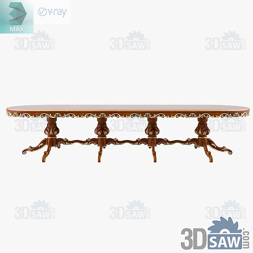Oval Table - Baroque Decor - Vintage Furniture - MX-429