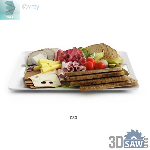 3ds Max Foods Appetizer - Kitchen Items - 3d Model Free Download