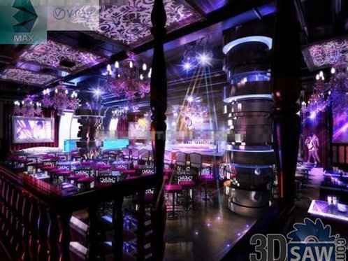 3d Interior Design - Nightclub 3d Interior - 3DS Max Project - MX-774