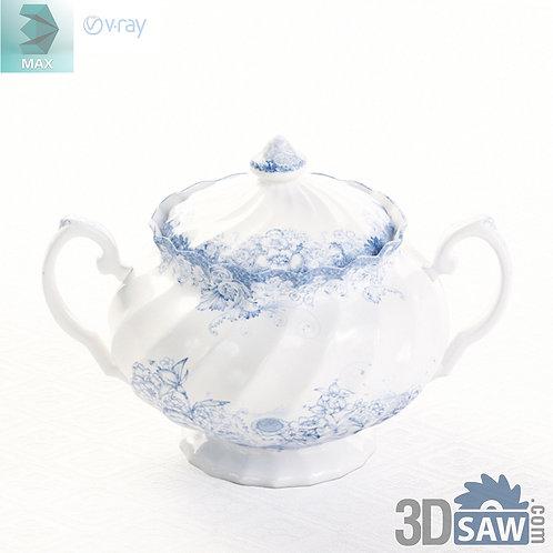 3ds Max Sugar Pot - Kitchen Items - 3d Model Free Download