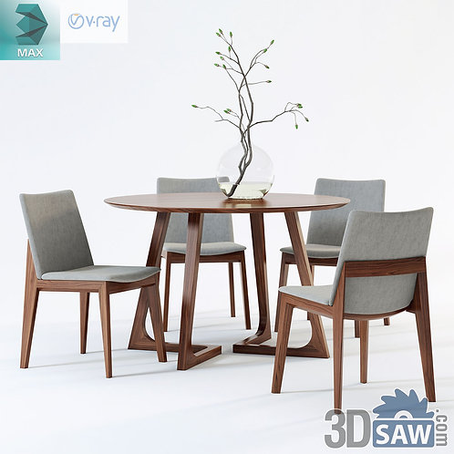 Table And Chairs Set - MX-0000193
