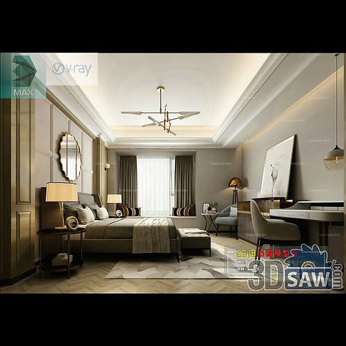 3d Model Interior Design Free Download - 3ds Max Bedroom Design - MX-909