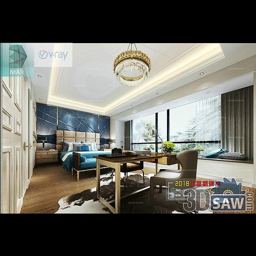 3d Model Interior Design Free Download - 3ds Max Bedroom Design - MX-908