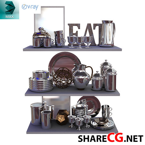 Stainless Steel Inox - Kitchen Set Decor - MX-0000010