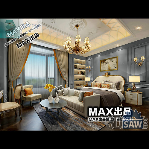 3d Model Interior Design Free Download - 3ds Max Bedroom Design - MX-905