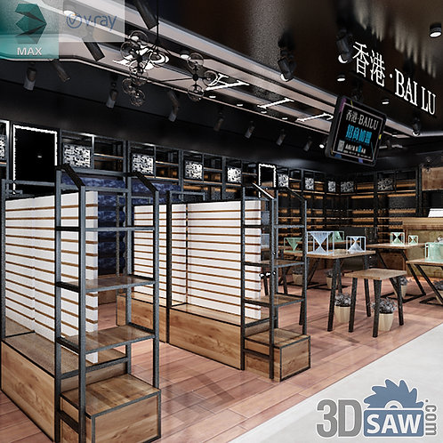 Shop Store - Exhibition Booth - 3ds Max Project - MX-573