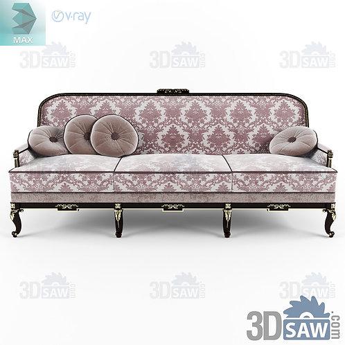 Seater Sofa - Baroque Decor - Vintage Furniture - MX-442