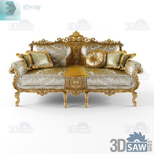 Sofa With Box - Baroque Decor - Vintage Furniture - MX-0000376