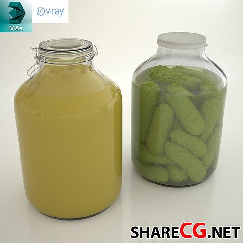 Glass Jar - KitchenSet Decor - MX-0000030