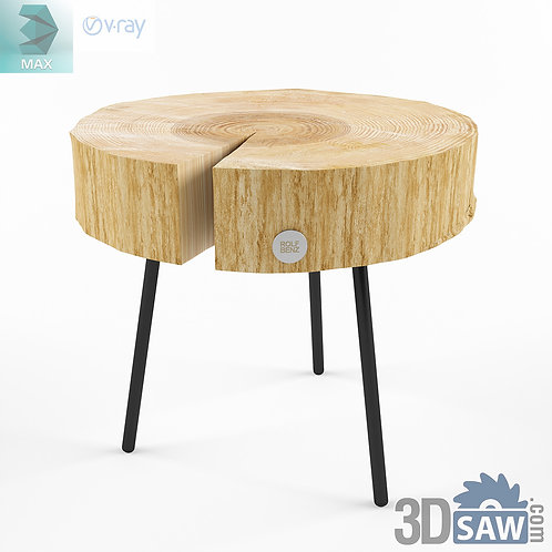 Table Model - Wooden Stools - Table Solid Wood - MX-584